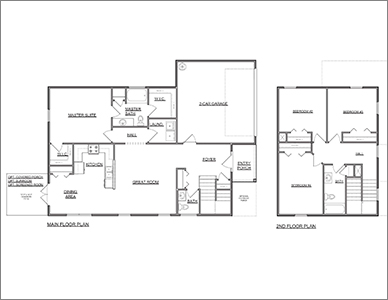 Sophia II Floor Plan by Devoro Homes