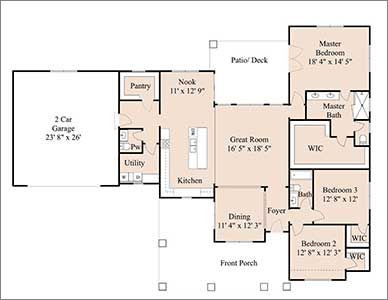 The Rockwell floorplan by Devoro home